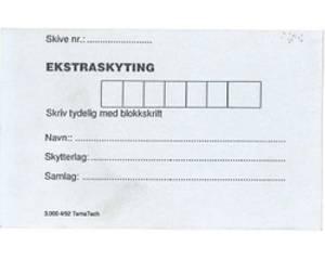 Bilde av Skytekort, Ekstraskyting (pk.